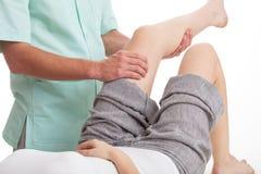 Massaggio della gamba Immagine Stock Libera da Diritti