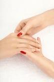 Massaggio della mano Immagini Stock