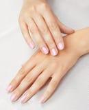 Massaggio delle mani della donna Fotografia Stock