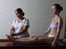 Massaggio di Ayurveda Fotografia Stock Libera da Diritti