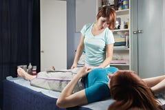 Massaggio di compressione dell'aria Immagine Stock Libera da Diritti