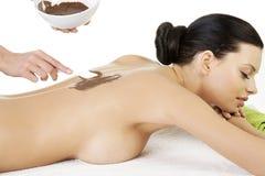 Massaggio di distensione della donna abbastanza giovane Fotografia Stock