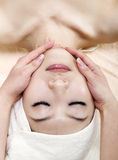 Massaggio di fronte Fotografia Stock Libera da Diritti