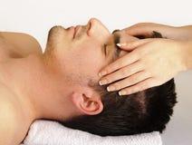 Massaggio di fronte Fotografie Stock Libere da Diritti