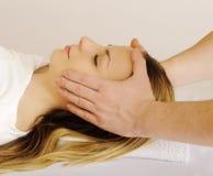 Massaggio di fronte Immagini Stock