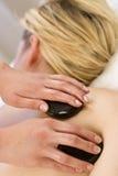 Massaggio di pietra caldo Immagine Stock Libera da Diritti