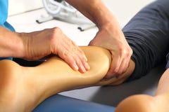 Massaggio e riabilitazione Fotografia Stock
