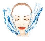 Massaggio facciale Immagine Stock