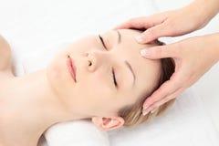 Massaggio facciale Immagini Stock