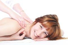 Massaggio grazioso della ragazza Fotografie Stock Libere da Diritti
