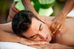 Massaggio maschio Immagini Stock Libere da Diritti
