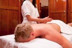 Massaggio a percussione Fotografie Stock Libere da Diritti