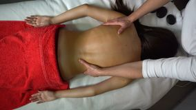 Massaggio posteriore stock footage