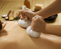 Massaggio tailandese Fotografie Stock Libere da Diritti