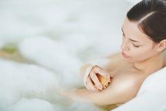 Massaging body Royalty Free Stock Photo