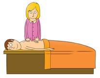 Massaging girl Royalty Free Stock Photos