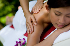 Massaging Hands Stock Image