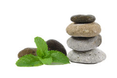 Massaging Stones Royalty Free Stock Photos