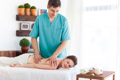 Massagist Royalty Free Stock Photo