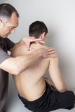 Massagist working Royalty Free Stock Image