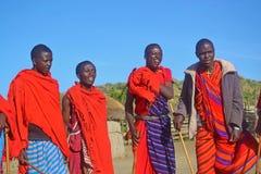 Massai grupp-Afrika Arkivbild