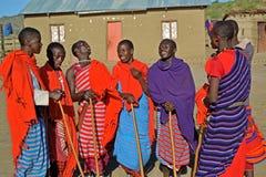 Massai grupp-Afrika Royaltyfri Fotografi