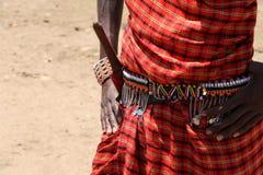Massai odziewa fotografia royalty free