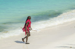 Massai walking Royalty Free Stock Images