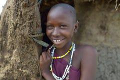 Seronera, Tanzania, February 12, 2016: A Maasai women. Massai women smiling  in Africa Royalty Free Stock Photo