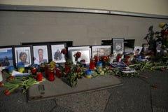 Massaker an Maidan-Quadrat, Kiew lizenzfreie stockfotos
