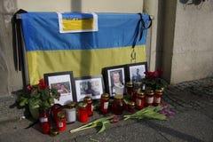 Massaker på den Maidan fyrkanten, Kiev royaltyfria foton