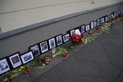 Massaker på den Maidan fyrkanten, Kiev Fotografering för Bildbyråer