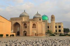 Massal广告声浪回教族长陵墓在苦盏市,塔吉克斯坦 免版税库存照片