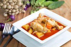 Massaman chicken curry Royalty Free Stock Photography