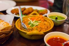 Massaman Curry Served On Table In Restaurant Stock Photo