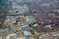Massanassa and Catarroja villages aerial Royalty Free Stock Photo