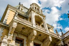 Massandra, Κριμαία - τον Οκτώβριο του 2014: Παλάτι και πάρκο Massandra σύνθετα στοκ φωτογραφία