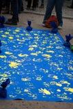 Massavergadering in steun een eurounion royalty-vrije stock afbeeldingen