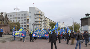 Massdemonstrationer i yekaterinburg, ryssfederation royaltyfria foton