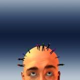 Masse bemannt ein Kopf Stockfotos