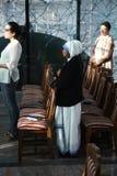 Masse in der Kapelle in der Mutter Teresa Memorial House in Skopje stockbild