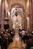 Masse in der Kathedrale des Heiligen Tryphon Kotor, Montenegro Lizenzfreie Stockbilder
