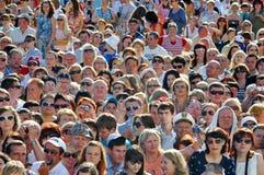 Masse der Leute Stockbild