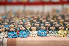 Masse der Mädchenpuppe keramisch Lizenzfreies Stockfoto