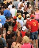 Masse der Touristen Lizenzfreies Stockfoto