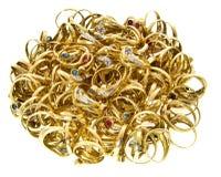 Masse goldene Ringe Stockfotografie