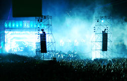 Masse am Konzert stockfoto