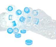 Masse Kunststoffflaschen oder Plastikabfall Stockbild