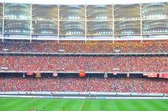 Masse am Stadion Lizenzfreies Stockfoto