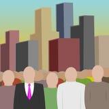 Masse und Stadt Lizenzfreies Stockfoto